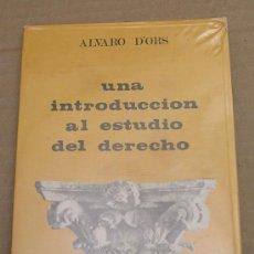 Libros de segunda mano: UNA INTRODUCCIÓN AL ESTUDIO DEL DERECHO - ÁLVARO D´ORS - RIALP - 1973 - BUEN ESTADO GENERAL. Lote 227777011