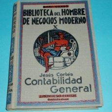 Libros de segunda mano: CONTABILIDAD GENERAL. JESÚS CORTÉS. TOMO X DE LA BIBLIOTECA DEL HOMBRE DE NEGOCIOS MODERNO.. Lote 25568290