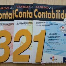 Libros de segunda mano: CURSO DE CONTABILIDAD 1, 2 Y 3 - SP. Lote 24590911
