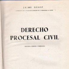 Libros de segunda mano: DERECHO PROCESAL CIVIL. SEGUNDA EDICION. JAIME GUASP. 1961. 24 X 17 CM. FALTA LOMO.. Lote 116561480