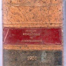 Libros de segunda mano: ARANZADI. REPERTORIO DE JURISPRUDENCIA. 1951. 25 X 18 CM.. Lote 84847002