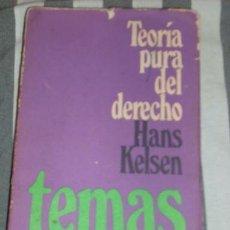 Libros de segunda mano: TEORIA PURA DEL DERECHO, POR HANS KELSEN - EUDEBA - ARGENTINA - 1971. Lote 21602746