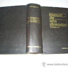 Libros de segunda mano: MANUAL DE ALTA DIRECCIÓN H. B. MAYNARD REVERTÉ 1967 RM40111. Lote 21995604