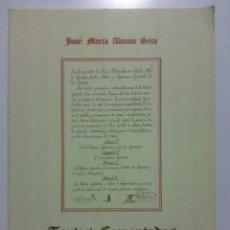 Libros de segunda mano: TEXTOS COMENTADOS DE HISTORIA DEL DERECHO - JOSE MARIA ALONSO SECO - 1993. Lote 23513470