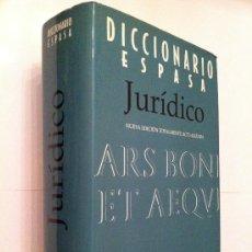 Libros de segunda mano: DICCIONARIO JURIDICO ESPASA. Lote 23738878