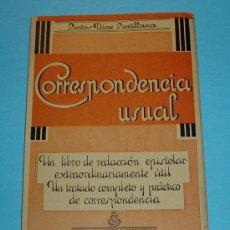 Libros de segunda mano: CORRESPONDENCIA USUAL. SANTOS DÍAZ SANTILLANA. Lote 24633444