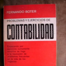 Libros de segunda mano: PROBLEMAS Y EJERCICIOS DE CONTABILIDAD. FERNANDO BOTER Y MAURI.ED. JUVENTUD,1980. Lote 130220868