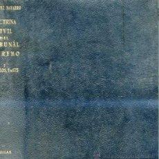Libros de segunda mano: DOCTRINA CIVIL TRIBUNAL SUPREMO I AGUILAR PLENA PIEL. Lote 25867147