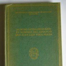 Libri di seconda mano: NUMERO EXTRAORDINARIO EN MEMORIA DEL ABOGADO DON JUAN LUIS VEGA PRADA - VARIOS AUTORES. Lote 26971674