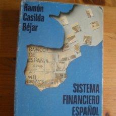 Libros de segunda mano: SISTEMA FINANCIERO ESPAÑOL. RAMON CASILDA BEJAR. AL.EDITORIAL. 1992 480 PAG. Lote 27711358
