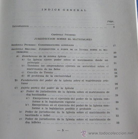Libros de segunda mano: MATRIMONIO Y LIBERTAD CIVIL EN MATERIA RELIGIOSA - Foto 4 - 27905243