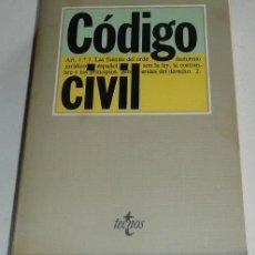 Libros de segunda mano: CÓDIGO CIVIL - EDITORIAL TECNOS, 1985. Lote 27952068