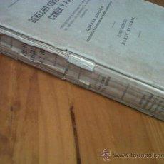 Libros de segunda mano: ANTIGUO LIBRO DERECHO CIVIL ESPAÑOL COMUN Y FORAL 5ª EDICION INSTITUTO EDITORIAL REUS MADRID 1941. Lote 28725762