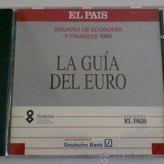 Libros de segunda mano: LA GUÍA DEL EURO EN CD-ROM PARA ORDENADOR. ANUARIO DE ECONOMÍA Y FINANZAS DE ELPAIS 1999. Lote 28812696