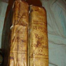 Libros de segunda mano: EL FUERO REAL DE ESPAÑA POR EL REY ALFONSO IX DOS TOMOS COMPLETO 1781. Lote 28835101