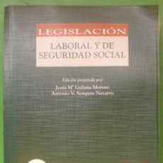 Libros de segunda mano: LEGISLACIÓN LABORAL Y DE SEGURIDAD SOCIAL. ACTUALIZADO A SEPTIEMBRE 2003. ARANZADI. Lote 29571744