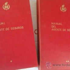 Libros de segunda mano: DOS TOMOS MANUAL AGENTE DE SEGUROS 1972. Lote 30509786