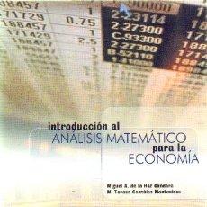 Livres d'occasion: INTRODUCCION AL ANALISIS MATEMATICO PARA LA ECONOMIA EC-078. Lote 30812538