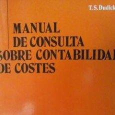 Libros de segunda mano: MANUAL DE CONSULTA SOBRE CONTABILIDAD DE COSTES (BILBAO, 1990). Lote 31147782