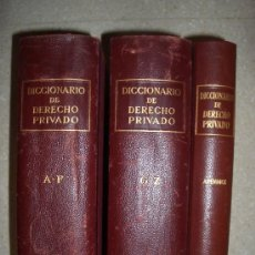 Libros de segunda mano: 1954. DICCIONARIO DE DERECHO PRIVADO. 3 VOLS. COMPLETO. CASSO Y ROMERO, CERVERA. Lote 31942482