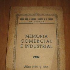 Libros de segunda mano: MEMORIA COMERCIAL E INDUSTRIAL DE HUESCA AÑO 1955 Y 1956. Lote 32617514