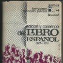 Libros de segunda mano: EDICIÓN Y COMERCIO DEL LIBRO ESPAÑOL (1900-1972). FERNANDO CENDÁN PAZOS. EDITORIAL NACIONAL, 1972.. Lote 33451338