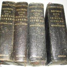 Libros de segunda mano: DOCTRINA CIVIL DEL TRIBUNAL SUPREMO - RODRIGUEZ NAVARRO - ED. AGUILAR - 4 TOMOS - AÑO 1951. Lote 59714425