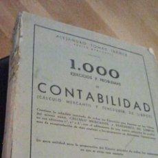 Libros de segunda mano: 1000 EJERCICIOS Y PROBLEMAS DE CONTABILIDAD. 1945.. Lote 34600499