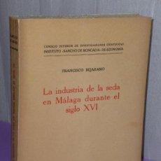 Libros de segunda mano: LA INDUSTRIA DE LA SEDA EN MÁLAGA DURANTE EL SIGLO XVI.. Lote 50401974