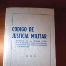 Libros de segunda mano: CODIGO DE JUSTICIA MILITAR - ACADEMIA EDITORIAL LAMRUJA - 1980. Lote 36034823