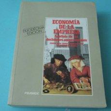 Libros de segunda mano: ECONOMÍA DE LA EMPRESA. ANÁLISIS DE LAS DECISIONES EMPRESARIALES. E. BUENO / I. CRUZ / J.J. DURÁN. Lote 36444366