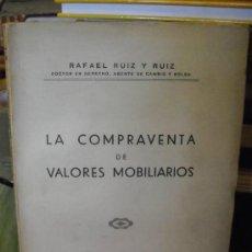 Libros de segunda mano: LA COMPRAVENTA DE VALORES MOBILIARIOS. Lote 37299447