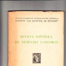 Libros de segunda mano: REVISTA ESPAÑOLA DE DERECHO CANÓNICO III SEPTIEMBRE-DICIEMBRE 1946. Lote 38231940