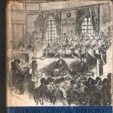Libros de segunda mano: BREVIARIOS. INTRODUCCION AL DERECHO. P. VINOGRADOFF.FONDO DE CULTURA ECONOMICA.1ª ED. 1952. Lote 38497450