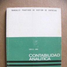 Libros de segunda mano: LIBRO MANUAL DE CONTABILIDAD ANALITICA GESTION DE EMPRESAS - TOMO 2 DEUSTO - JESUS M LANDA. Lote 38838710