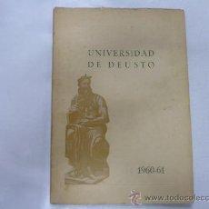 Libros de segunda mano: UNIVERSIDAD DE DEUSTO CURSO 1960-61. FACULTAD DE DERECHO. CIENCIAS ECONOMICAS. TDK98. Lote 38935507