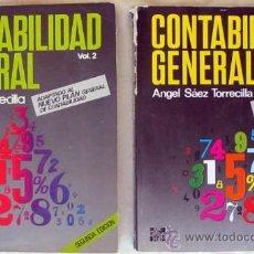 Libros de segunda mano: CONTABILIDAD GENERAL I Y II - ÁNGEL SÁEZ TORRECILLA - MCGRAW-HILL 1989 - 618 PÁGINAS - VER ÍNDICE. Lote 39255116