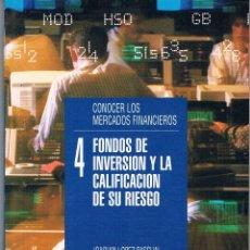 Libros de segunda mano: FONDOS DE INVERSIÓN Y LA CALIFICACIÓN DE SU RIESGO. LA GACETA DE LOS NEGOCIOS. 1995. Lote 39957160