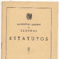 Libros de segunda mano - Mutualidad laboral de seguros. Estatutos. 1953 - 40032853