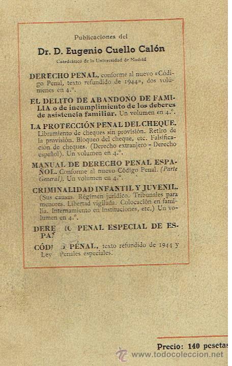 Libros de segunda mano: DERECHO PENAL TOMO II PARTE ESPECIAL SEXTA EDICIÓN - Foto 2 - 40310292