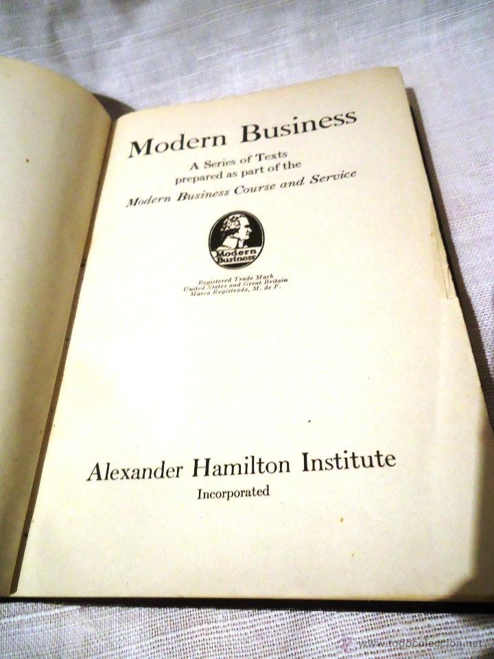 2 LIBROS DE MODERN BUSSINES. 1946 (Libros de Segunda Mano - Ciencias, Manuales y Oficios - Derecho, Economía y Comercio)