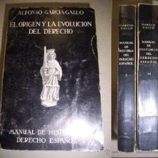 Libros de segunda mano: GARCÍA-GALLO, ALFONSO. MANUAL DE HISTORIA DEL DERECHO ESPAÑOL. Lote 40804315