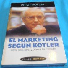 Libros de segunda mano: EL MARDETING SEGÚN KOTLER. Lote 41405943
