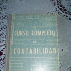 Libros de segunda mano: CURSO COMPLETO DE CONTABILIDAD MANUEL RIPOLLES MADRID 1949. Lote 41442313