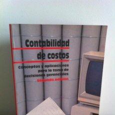 Libros de segunda mano: CONTABILIDAD DE COSTOS. POLIMENI - FABOZZI - ADELBERG. MC GRAW HILL. 2ª EDICION. Lote 41778907