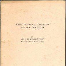 Libros de segunda mano: VISITA DE PRESOS Y PENADOS POR LOS TRIBUNALES, POR ÁNGEL DE HUIDOBRO PARDO. CONFERENCIA 1972. Lote 42231509