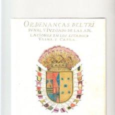Libros de segunda mano: ORDENANZAS DEL TRIBUNAL Y JUZGADO DE LAS APELACIONES EN LOS ESTADOS DE VAENA Y CABRA 1634 2012. Lote 42678946