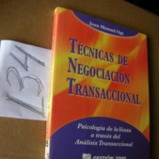 Livros em segunda mão: TECNICAS DE NEGOCIACION TRANSACCIONAL - JUAN MANUEL OPI. Lote 42763652