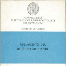 Libros de segunda mano: REGLAMENTO DEL REGISTRO MERCANTIL. Lote 42811045