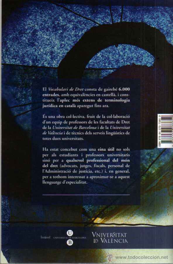 Libros de segunda mano: VOCABULARI DE DRET - UNIVERSITAT DE BARCELONA - UNIVERSITAT DE VALENCIA - 2009 - Foto 2 - 43125561